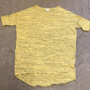 Small Lemon Heathered Lularoe Irma